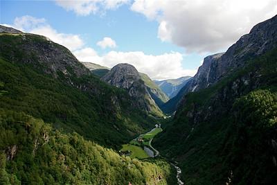 Uitzicht Stalheim, Noorwegen.