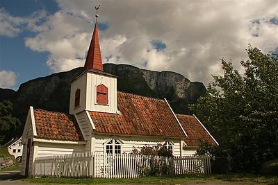 Stavkyrke Undredal, Noorwegen.