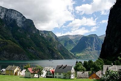 Undredal aan de Naeroyfjord, Noorwegen.