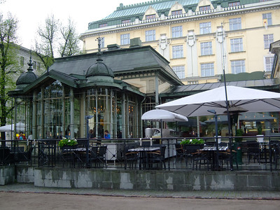 The Kappeli Cafe, Helsinki; meeting place of poets, artists musicians. Favorite of Sibelius