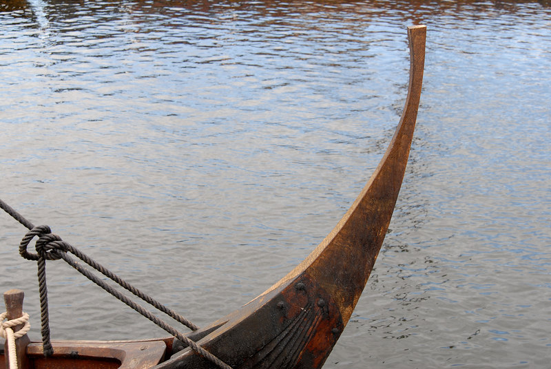 Stem - or could it be stern? - of a replica Viking ship at Roskilde.
