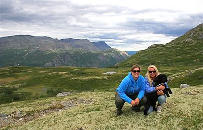 Met Heidi op de Totten (1.450m), Hemsedal, Noorwegen.