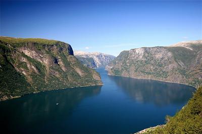 Aurlandsfjord, Noorwegen.
