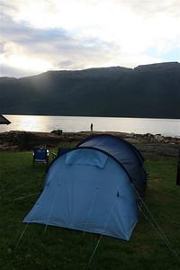 Kamperen aan de Hardangerfjord, Noorwegen.