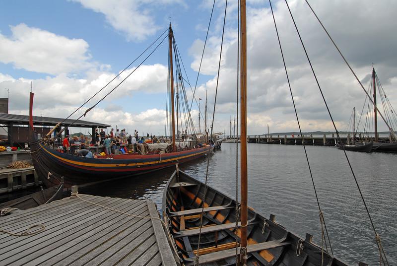 Viking Ship Museum at Roskilde: <I>Havhingsten (Sea Stallion)</I> loading for a voyage, June 2006. Nikon D200, Nikkor 12-24.