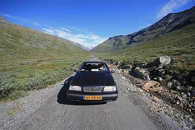 Op weg naar Leirvassbu, Jotunheimen National Park, Noorwegen.