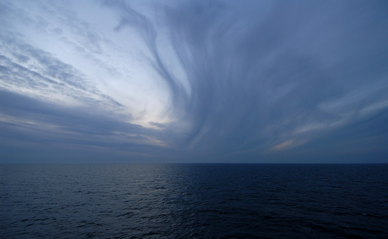 Evening sky from Harwich-Esbjerg ferry