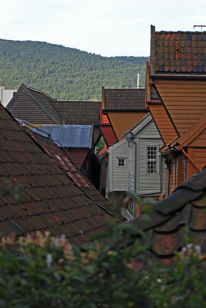 Bergen - roofs in the Hansa quarter