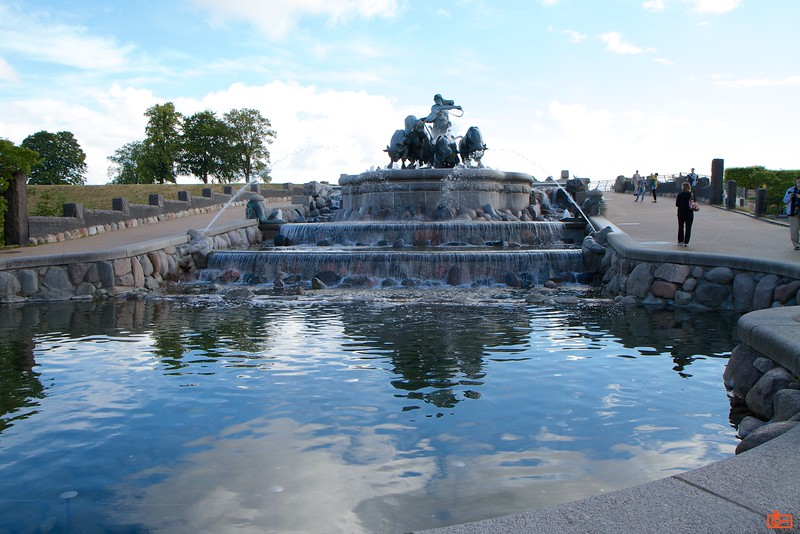 The Gefion Fountain features a large-scale group of animal figures being driven by the legendary Norse goddess, Gefjun. It was first activated in 1908.<br /> IMG_6874