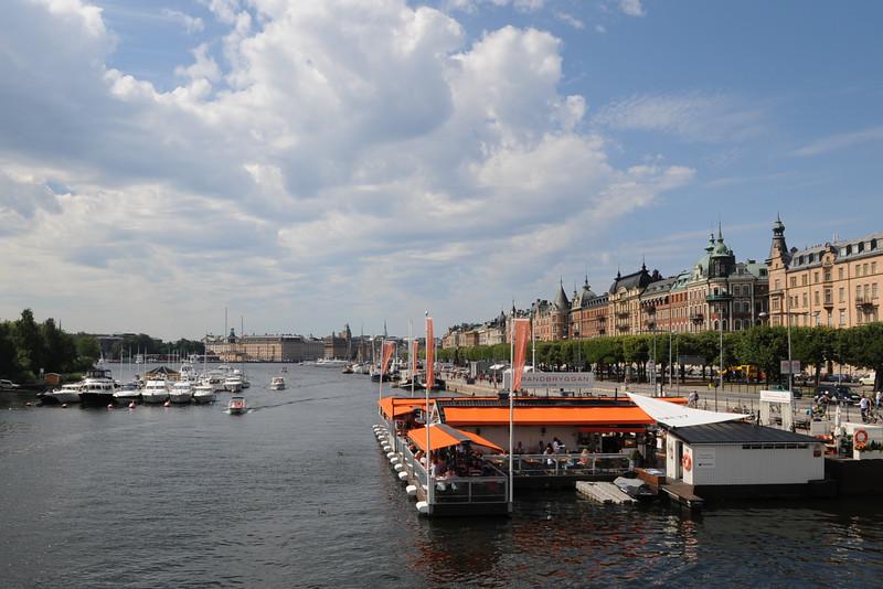 Harbor view in Stockholm from Djurgardsbron