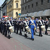 Royal band and guard in Stockholm Sweden