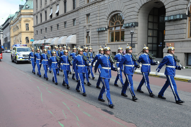 Royal guard in Stockholm on daily parade