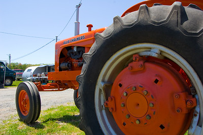 Some of this farm equipment is just massive. That back tire is a good 5 feet tall.  Taken at Antique Engine and Tractor Show - Somers, CT, US