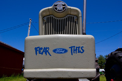 """The sky was terribly cooperative that day. I tried to capture an angle that embodied the """"Fear This"""" slogan... I think the next shot captured it better.  Taken at Antique Engine and Tractor Show - Somers, CT, US"""