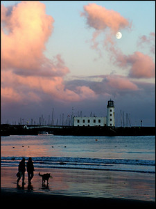 Lighthouse and moon