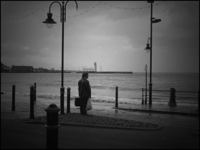 Standing before the sea