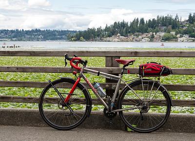 20160723.  Scarlet Seven at Juanita Bay on upper Lake Washington.