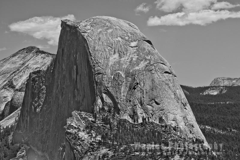 Half Dome Closeup B&W