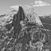 Half Dome & Shoulders B&W