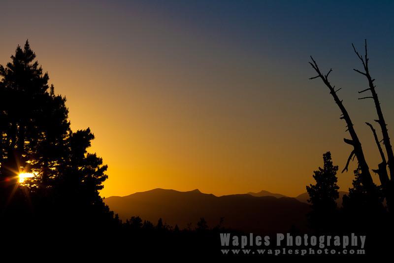 Sunrise at Minarets Outlook, Mammoth Lakes, CA