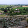 Looking over the Castle walls in Orford Suffolk.