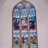 Beautiful stained glass window in a Suffolk Church