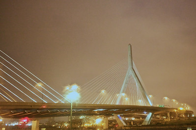 Bunker Hill Memorial suspension bridge, Boston, Massachusetts