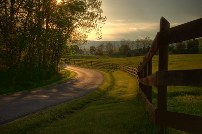 Country Lane in Luray, Virginia