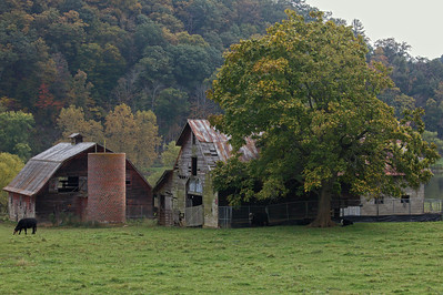 Old farm house along the New River near Fries, Virginia