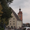 Regensburg's medieval bridge tower