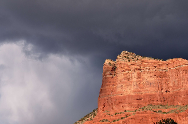 Storm passing over Sedona