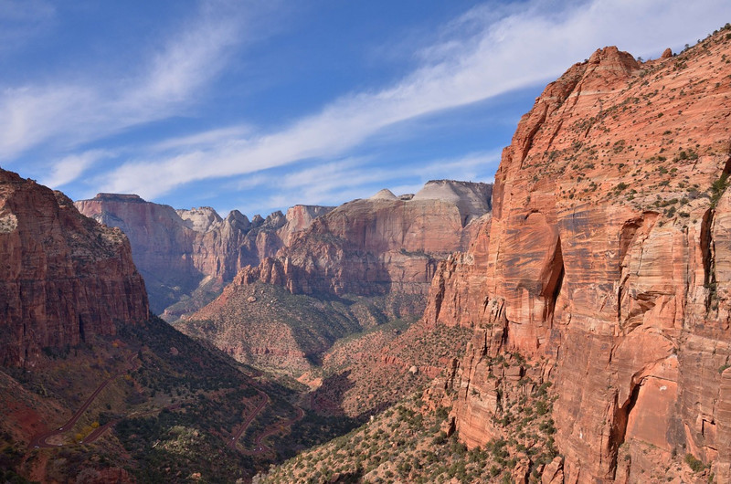 Zion Canyon overlook<br /> Zion National Park<br /> Utah