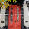 Front door of a home in Schenectady's Stockade Historic Districtt.  Schenectady, New York, United States