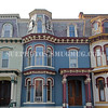 Victorian townhouses in Franklin Square, Saratoga Springs, New York, United States