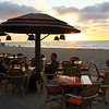 Sunset. Near the beach there are many terraces near the (North Sea) beach where you can eat and drink.