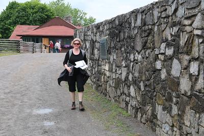 Melissa entering the fort