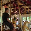 Steve on the Carousel (photo by Melissa)