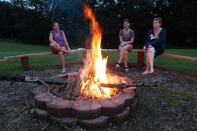 Deb, Diane and Karla enjoying the fire.