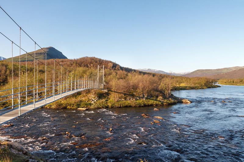 Die Hängebrücke nach Abiskojaure