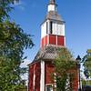 Kirchturm der Kirche von Jukkasjärvi