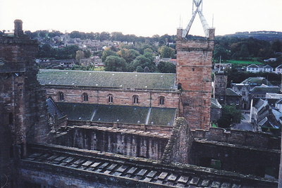 St. Michael's church from Linlithgow Palace, Scotland.