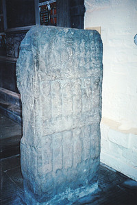 Ancient stone found near Dunkeld Cathedral, Scotland