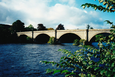 Bridge over the river Tay, Dunkeld, Scotland