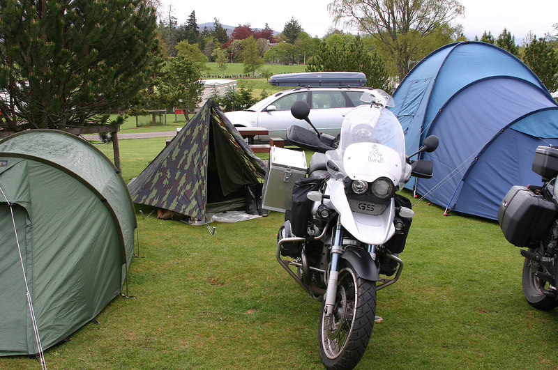 Grantown on Spey camp - mijn plekje