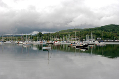 Boats outside Dunstaffnage Castle (near Oban)