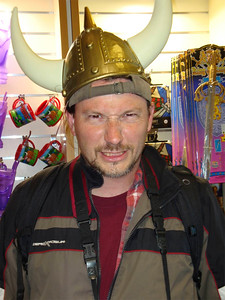 John playing Viking at Urquhart Castle