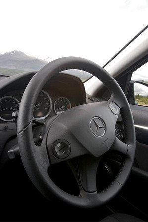 Crazy steering wheel...it's on the wrong side!