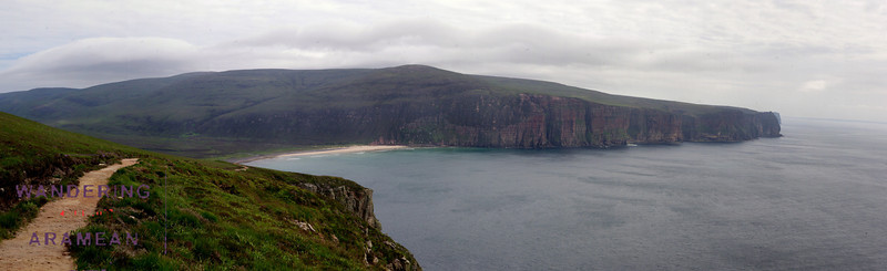 A panorama as we hiked back from the Old Man of Hoy