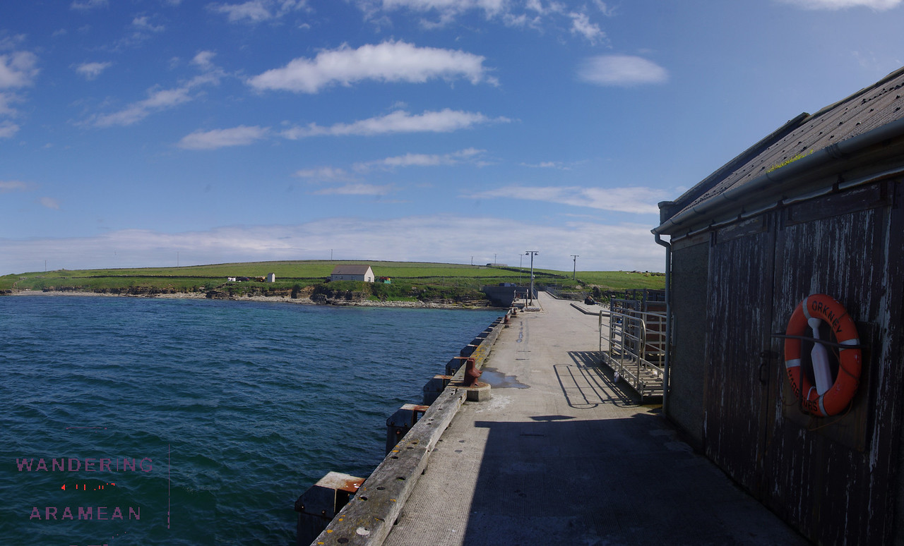 The ferry terminal at Papa Westray