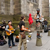 Edinburgh - More Festival performers.  This appears to be a Gypsy band and they provided a lively musical performance.
